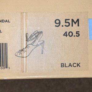 Michael Kors black leather Thalia